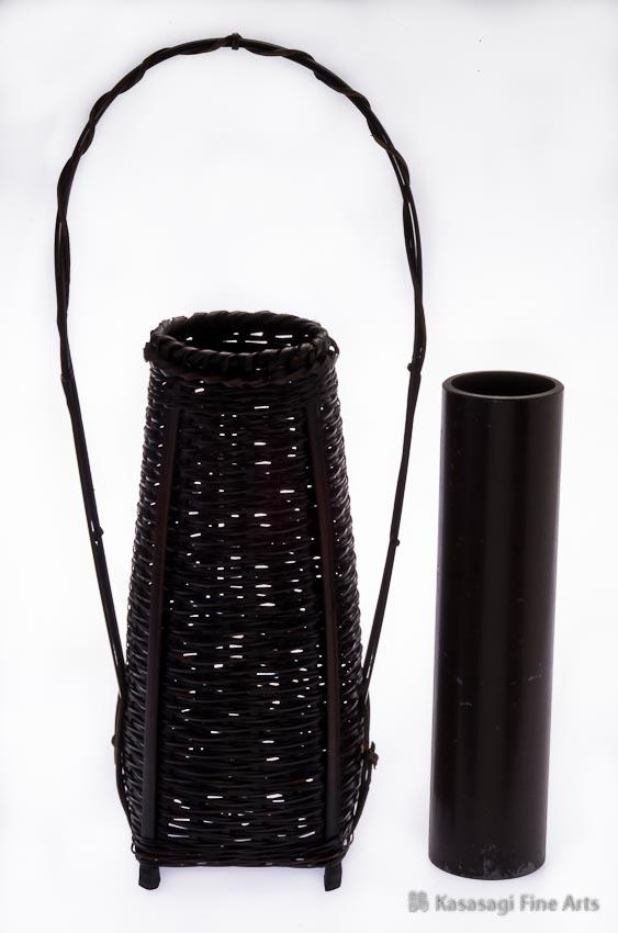 Woven Bamboo Ikebana Basket