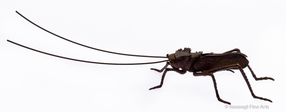 Antique Bronze Jizai Articulated Grasshopper