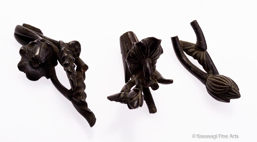 Antique Bronze Lotus Drawer Handles