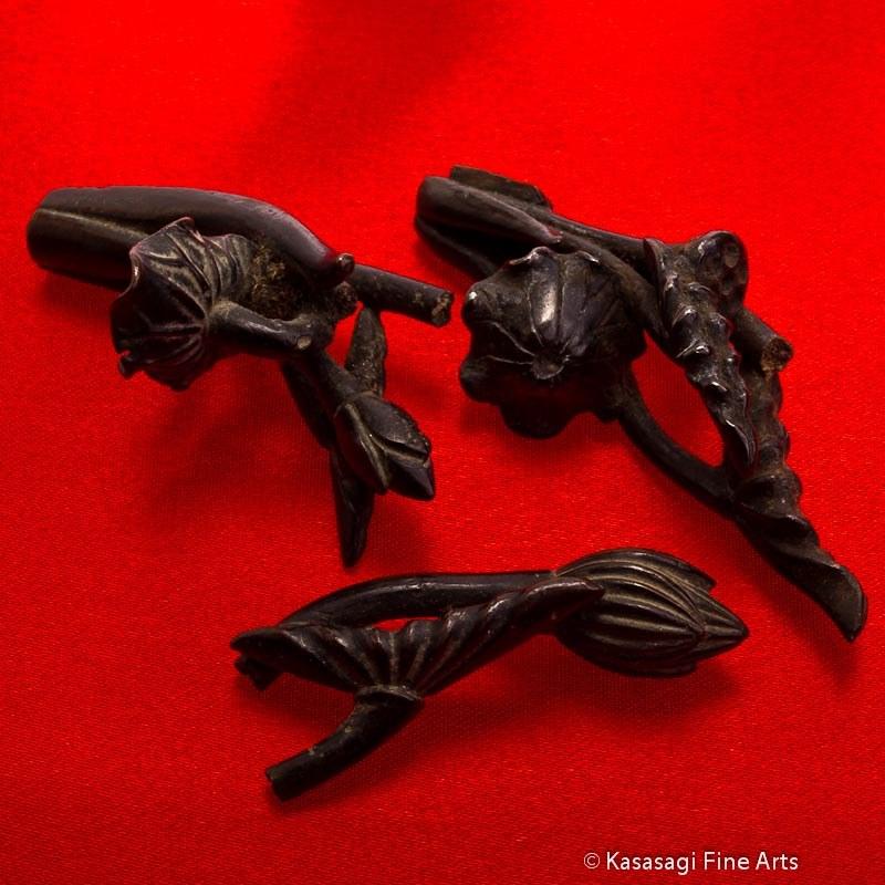 Antique Bronze Lotus Drawer Handles