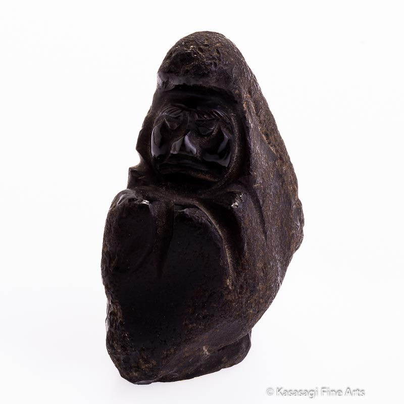 Antique Igneous Rock Japanese Daruma