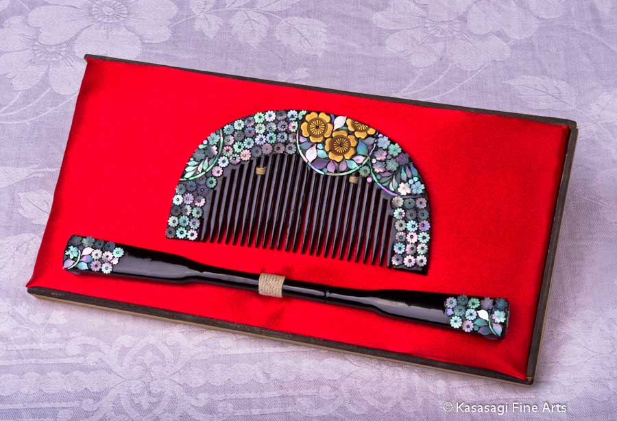 Antique Kanzashi Hair Decoration Set 2