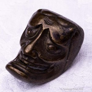 Antique Bronze Oni Netsuke