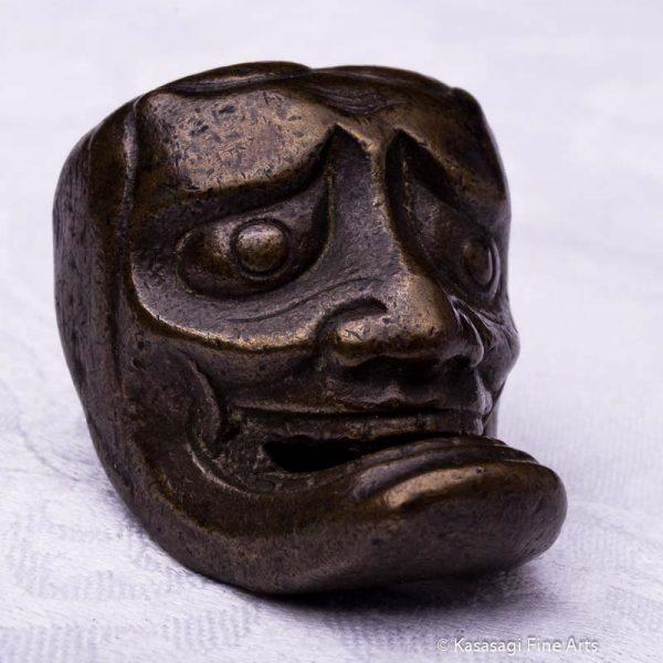 Antique Bronze Oni Netsuke