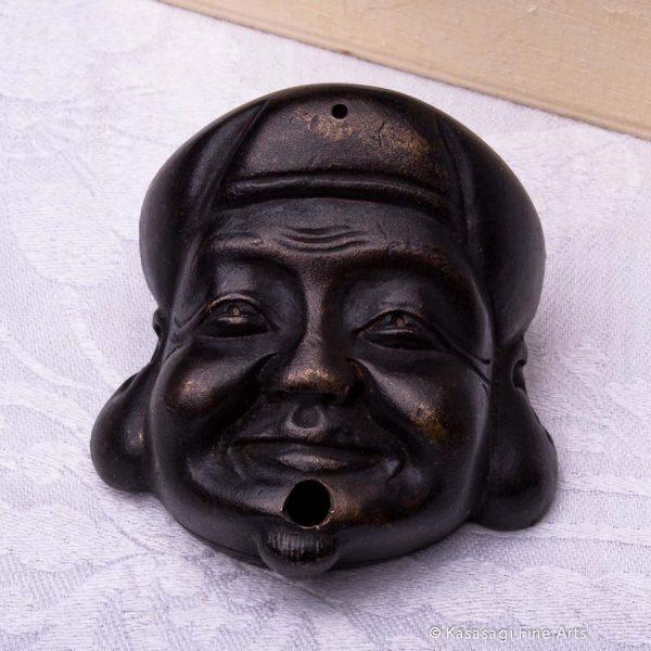 Bronze Ebisu Calligraphy Water Dripper