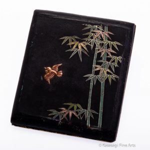 Damascene Shigarettokēsu Cigarette Case Bird And Bamboo