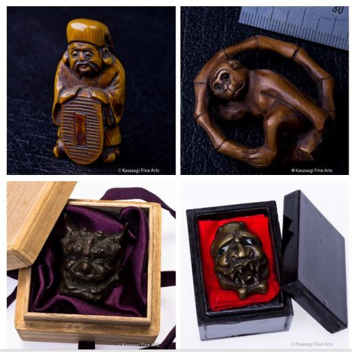 Antique Netsuke Ojime Menuki And Okimono For Sale