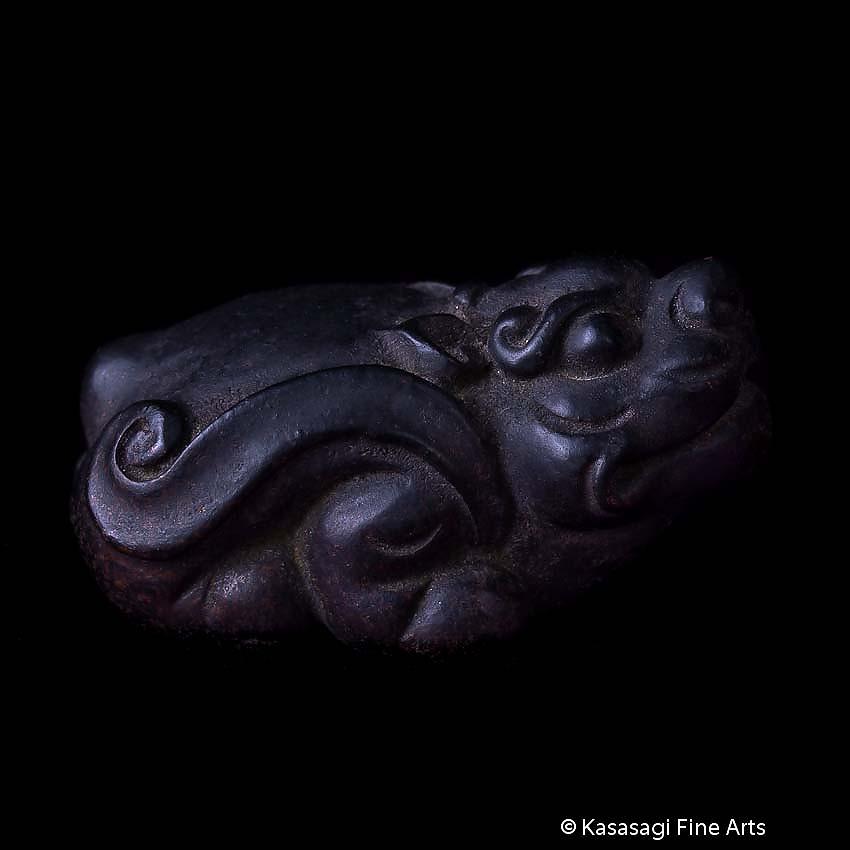 Antique Bronze Signed Shishi Lion Okimono