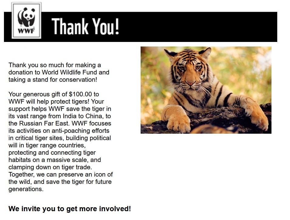 Kasasagi Fine Arts Supports World Wildlife Fund