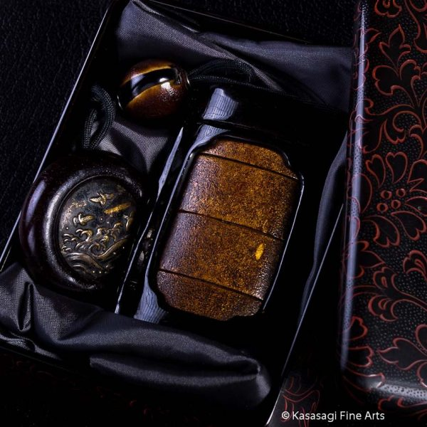 1855 Inro And Case With Royal Provenance