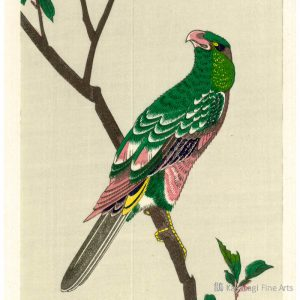 Hiroshige Woodblock Parakeet On Crab Apple