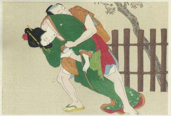 Erotic Japanese Woodblock Print 1