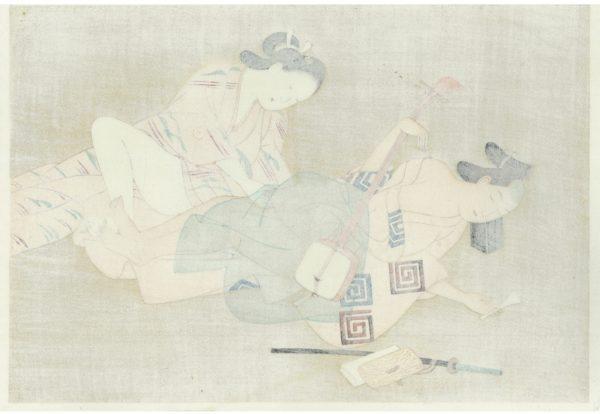 Erotic Japanese Woodblock Print 3