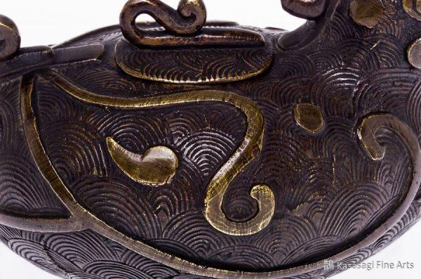 Rare Antique Bronze Hen Koro