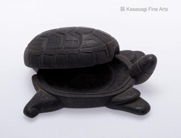 Japanese Tortoise Inkstone Container