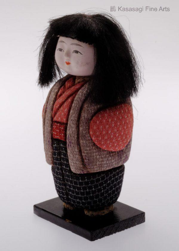 Antique Kimekomi Japanese Doll