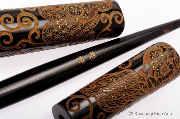 Japanese Kogai Hair Ornament Signed Shorin