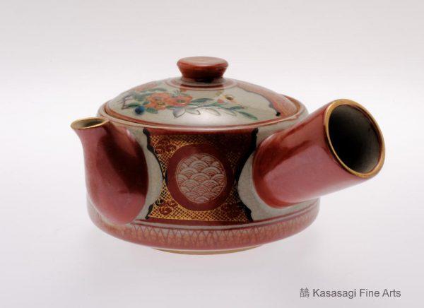 Late Meiji Era Kutani Kyusu Teapot