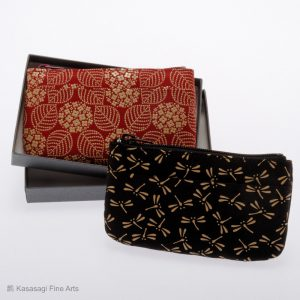 Inden-Ya Deerskin Lacquer Card And Coin Purses