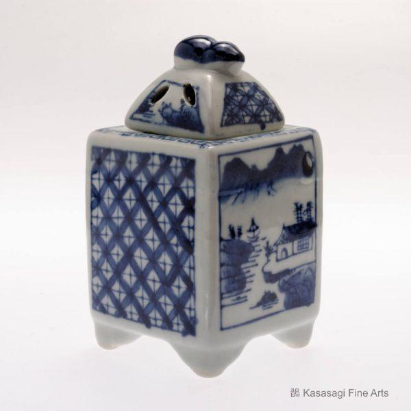 Kutani Blue And White Travellers Koro