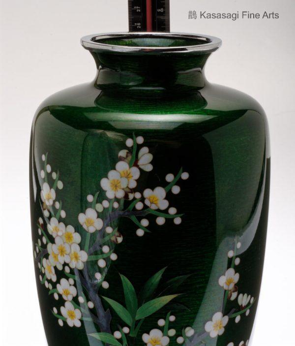 Large Ando Studio Ginbari Cloisonne Vase