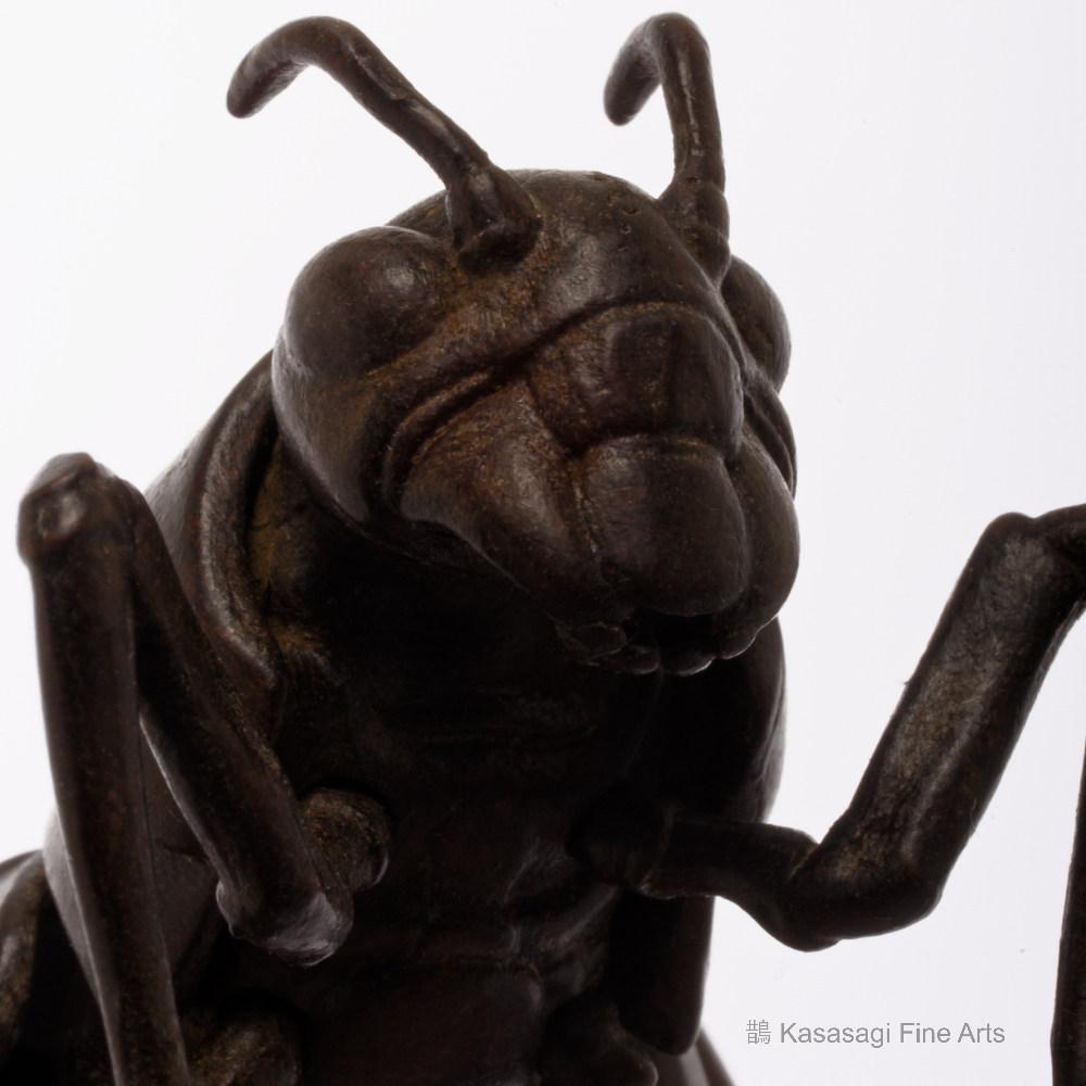 Signed Bronze Articulated Cicada