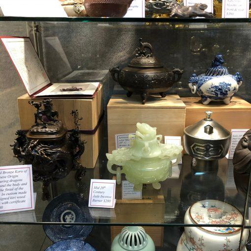 Japanese Incense Burners At Armadale Antique Centre
