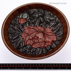 Kamakura Bori Peony Plate